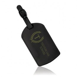 Deluxe Engraved Black Luggage Tag