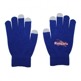 Full Color Imprinted Touch Screen Gloves - Blue