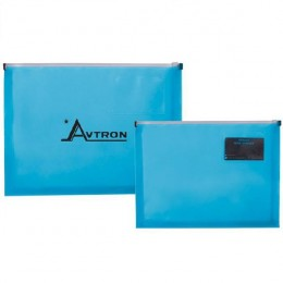 Promotional Business Card Zip Closure Envelope - Translucent blue