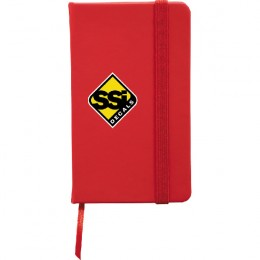 Snap Elastic Closure Notebook with Imprint - Red