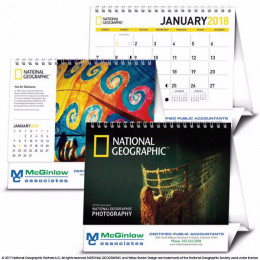 National Geographic Photography Large Desk Tent Calendar
