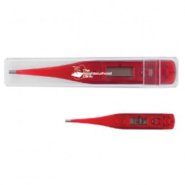 Imprinted Quick Read Digital Thermometer - Translucent red