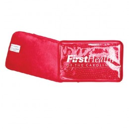 Promotional Hot/Cold Pack w/Plush Backing - Red