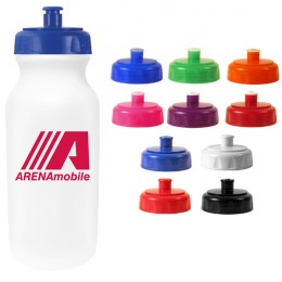 One Day 20 oz White Sport Bottle with Logo