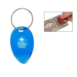 Tear Drop Lottery Scratcher Key Chain Logo