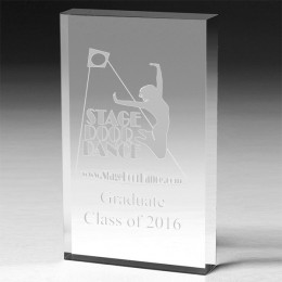 Logo Engraved Classic Rectangle Acrylic Award