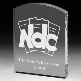 Promotional Engraved Classic Arch Acrylic Award