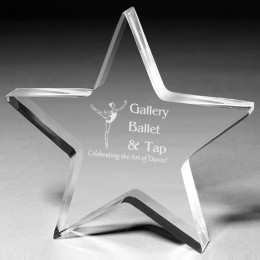 Engraved Freestanding Star Acrylic Award