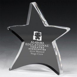 Engraved Moving Star Acrylic Award