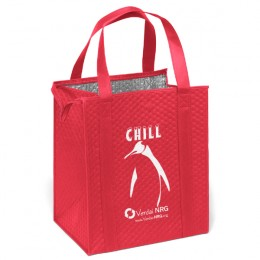 Insulated Reusable Grocery Tote Bag - Red