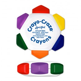 Crayo-Craze Crayon Wheel - Best Custom Imprinted Premium Crayon Sets - White