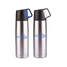Logo Imprinted Stainless Steel Vacuum Bottle - 16.5 oz
