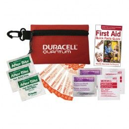 Imprinted Economy First Aid Kit - Red