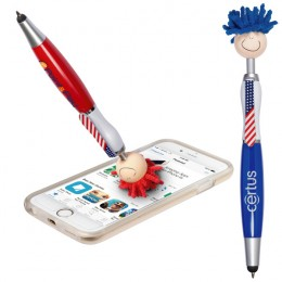 Imprinted Patriotic MopTopper Pen