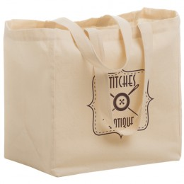 Imprinted Wide Cotton Canvas Grocery Bag