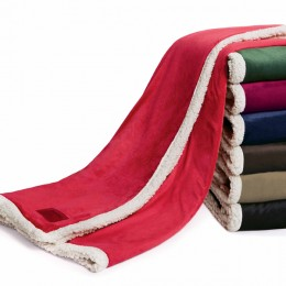 Embroidered Challenger Lambswool Throw 30 in. x 45 in.