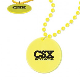 Promotional Bright-Edge Medallion Beads yellow
