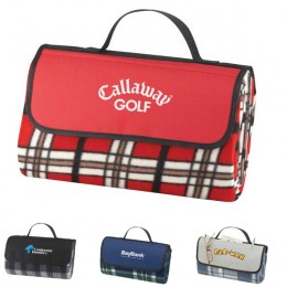 Plaid Picnic Blanket Custom Logo