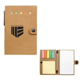 Imprinted Small Snap Notebook with Desk Essentials