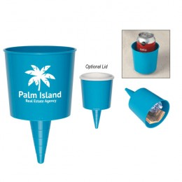 Promotional Beach-Nik Drink Holder - Aqua