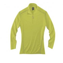 River's End Women's Contrast Pullover with Logo citron