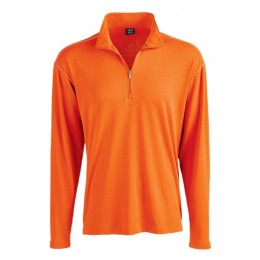 Logo Page & Tuttle Men's Poly Contrast Pullover orange