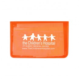 Imprinted Sun Relief First Aid Kit - 8 Piece - Translucent orange