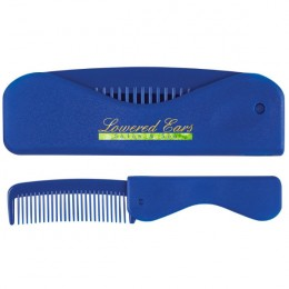 Promotional Folding Comb - Blue