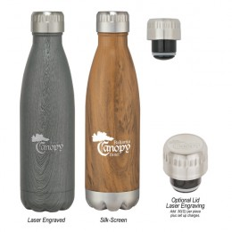 Imprinted Swig Stainless Steel Woodtone Bottle - 16 oz