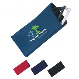 Neoprene Eyeglass/Sunglass Case Promotional Custom Imprinted With Logo