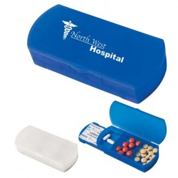 Pill Box and Bandage Dispenser with Logo