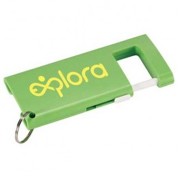 Promotional Duple Phone Stand with Screen Cloth lime green