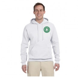 Imprinted White Jerzees NuBlend Hooded Sweatshirt