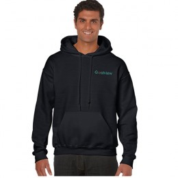 Imprinted Gildan Heavy Blend Classic Hooded Sweatshirt - Black