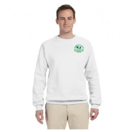 Imprinted White Jerzees NuBlend Crewneck Sweatshirt