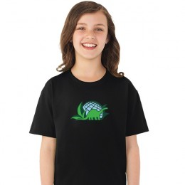 Fruit of the Loom HD Cotton Youth Tee Imprinted - Black