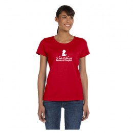 FOTL Heavy Cotton Ladies T-Shirt Logo - Red