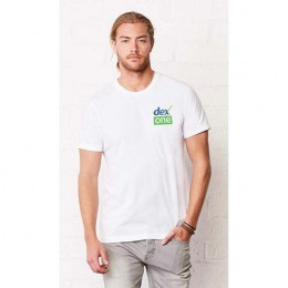White Bella Canvas Unisex Jersey T-Shirt Logo