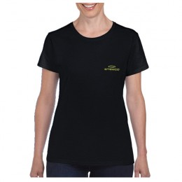 Gildan Cotton Ladies T-Shirt - Black