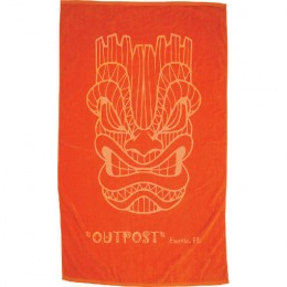 Imprinted Colored Heavy Weight Beach Towel - Orange