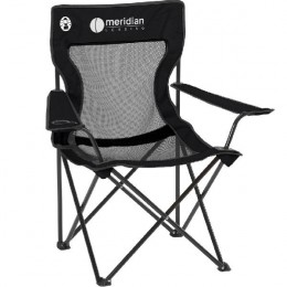 Imprinted Coleman Mesh Quad Chair - Black