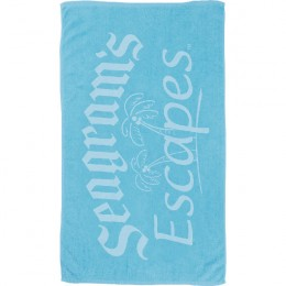 Promotional Small Colored Beach Towel - Blue