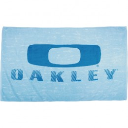 Blue Distressed Beach Towel with Logo
