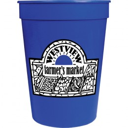 Blue 12 oz Promotional Stadium Cups | Bulk BPA Free Stadium Cups | Wholesale Sports Giveaway Items