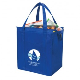 Reusable Insulated Shopper Tote - Royal Blue