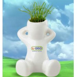 Grow Guy Planter with Promotional Logo