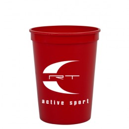 12 Oz Stadium Cup Promotional-red