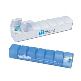 Seven Day Pill Case- white and blue