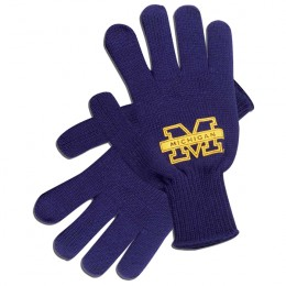 Acrylic Knit Glove - Navy Blue