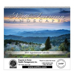 North American Landscapes Spiral Bound Wall Calendar